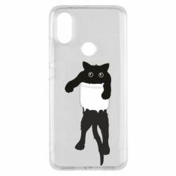 Чехол для Xiaomi Mi A2 The cat tore the pocket