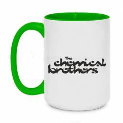 Кружка двоколірна 420ml The Chemical Brothers logo