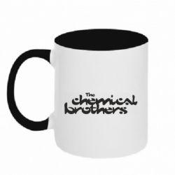Кружка двоколірна 320ml The Chemical Brothers logo