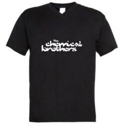 Чоловіча футболка з V-подібним вирізом The Chemical Brothers logo