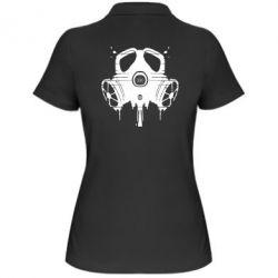 Женская футболка поло The Chemodan Clan противогаз - FatLine