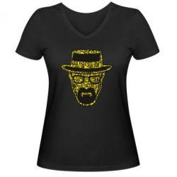 Жіноча футболка з V-подібним вирізом The Chronicle Walter White