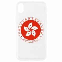 Чехол для iPhone XR The coat of arms of Hong Kong