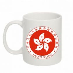 Кружка 320ml The coat of arms of Hong Kong