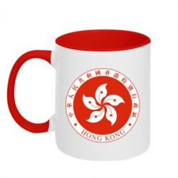 Кружка двоколірна 320ml The coat of arms of Hong Kong