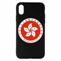 Чехол для iPhone X/Xs The coat of arms of Hong Kong
