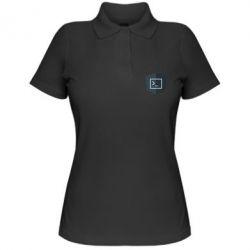 Жіноча футболка поло The code