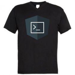 Чоловіча футболка з V-подібним вирізом The code