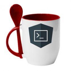 Кружка з керамічною ложкою The code