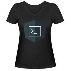 Жіноча футболка з V-подібним вирізом The code