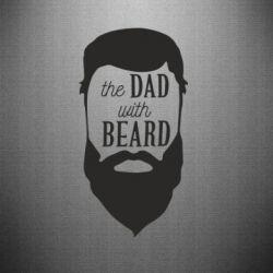 Наклейка The Dad with beard