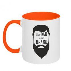 Кружка двухцветная The Dad with beard