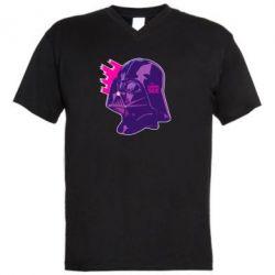 Мужская футболка  с V-образным вырезом The Dark Side Art - FatLine