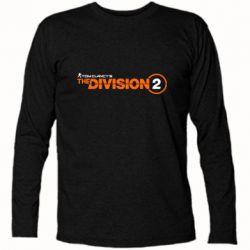 Футболка з довгим рукавом The division 2 logo