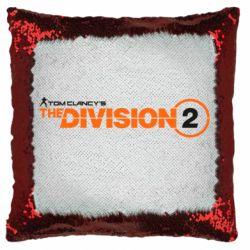 Подушка-хамелеон The division 2 logo