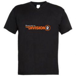 Чоловіча футболка з V-подібним вирізом The division 2 logo