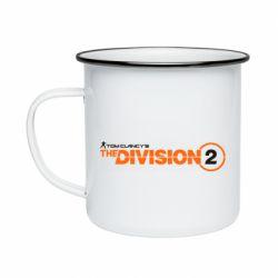 Кружка емальована The division 2 logo