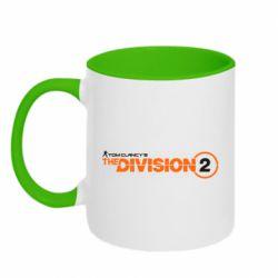 Кружка двоколірна 320ml The division 2 logo