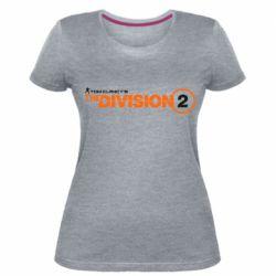 Жіноча стрейчева футболка The division 2 logo
