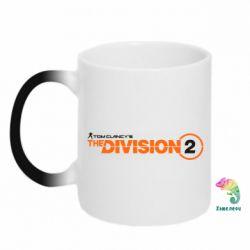 Кружка-хамелеон The division 2 logo