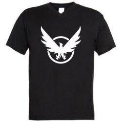 Чоловіча футболка з V-подібним вирізом The Division logo