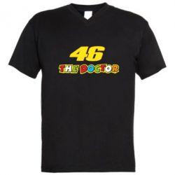 Мужская футболка  с V-образным вырезом The Doctor Rossi 46 - FatLine