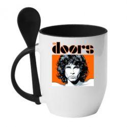 Кружка з керамічною ложкою The Doors