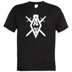Мужская футболка  с V-образным вырезом The Elder Scrolls