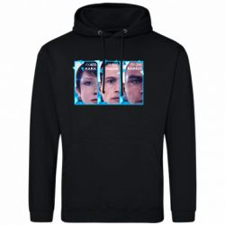 Чоловіча толстовка The faces of androids game Detroit: Become human