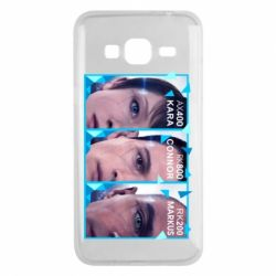 Чохол для Samsung J3 2016 The faces of androids game Detroit: Become human