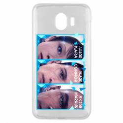 Чохол для Samsung J4 The faces of androids game Detroit: Become human