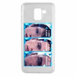 Чохол для Samsung J6 The faces of androids game Detroit: Become human
