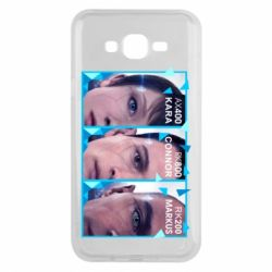 Чохол для Samsung J7 2015 The faces of androids game Detroit: Become human