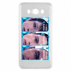 Чохол для Samsung J7 2016 The faces of androids game Detroit: Become human