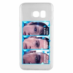 Чохол для Samsung S6 EDGE The faces of androids game Detroit: Become human