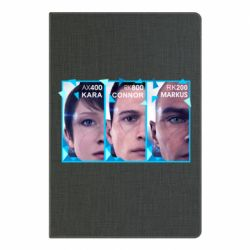 Блокнот А5 The faces of androids game Detroit: Become human