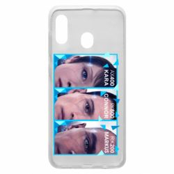 Чохол для Samsung A30 The faces of androids game Detroit: Become human