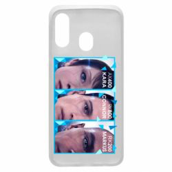 Чохол для Samsung A40 The faces of androids game Detroit: Become human