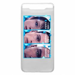 Чохол для Samsung A80 The faces of androids game Detroit: Become human