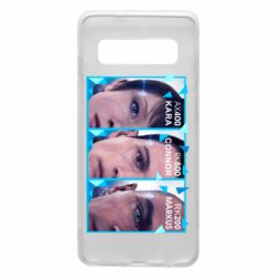 Чохол для Samsung S10 The faces of androids game Detroit: Become human