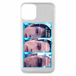 Чохол для iPhone 11 The faces of androids game Detroit: Become human