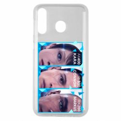 Чохол для Samsung M30 The faces of androids game Detroit: Become human