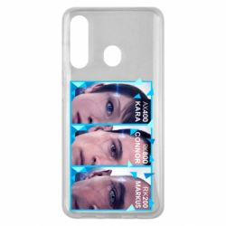 Чохол для Samsung M40 The faces of androids game Detroit: Become human