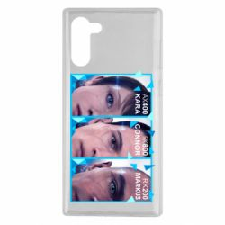 Чохол для Samsung Note 10 The faces of androids game Detroit: Become human