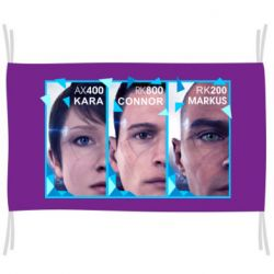 Прапор The faces of androids game Detroit: Become human