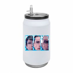 Термобанка 350ml The faces of androids game Detroit: Become human