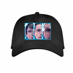 Дитяча кепка The faces of androids game Detroit: Become human