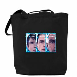 Сумка The faces of androids game Detroit: Become human