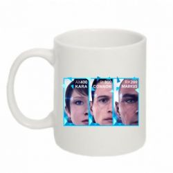 Кружка 320ml The faces of androids game Detroit: Become human