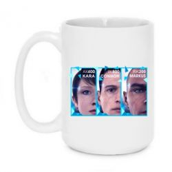 Кружка 420ml The faces of androids game Detroit: Become human